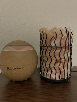 oil diffuser and salt lamp for Sale in Tucson, AZ