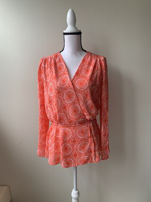 Michael Kors Orange/White Tunic Size S for Sale in Wake Forest, NC