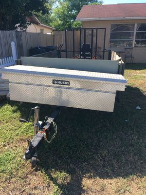 "Made home trailer 6ft by 9 ft 1/2. Lights work., has the weight ready to register. 2"" ball. for Sale in Port Richey, FL"