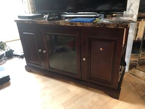 Faux Marble TV stand for Sale in Aspen Hill, MD