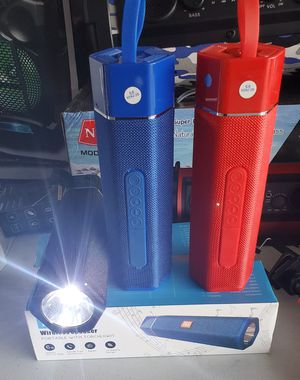 New wireless portable speaker rechargeable, bluetooth, with torchlight, fm,usb,sd for Sale in Riverside, CA
