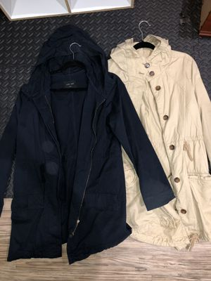 Navy blue and nude parka jackets for Sale in Upland, CA