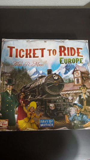 Ticket To Ride Europe board game for Sale in San Jose, CA