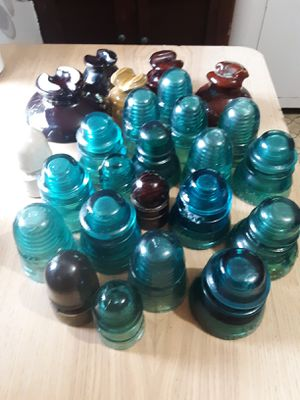 ANTIQUE GLASS & CERAMIC INSULATORS for Sale in Town and Country, MO