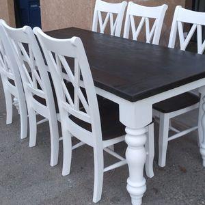 6-seat Farmhouse Table Not For Sale! Please Read Description for Sale in Fresno, CA