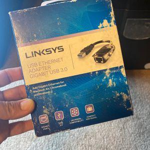 Linksys USB Ethernet Adapter Gigabit USB 3.0 for Sale in Riverside, CA