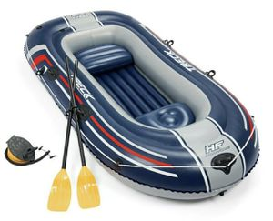 Bestway Hydro Force Inflatable 2 Person Raft Kayak Treck X2 Set with Oars for Sale in Tacoma, WA