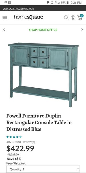NEW teal console table for Sale in Pickerington, OH