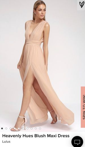Lulus Heavenly Hies Maxi Dress Blush Pink for Sale in Los Angeles, CA