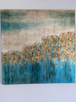 Teal & Gold wall art for Sale in Portage, MI
