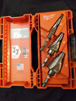 Milwaukee Titanium Shockwave Step Drill Bit Kit for Sale in Cudahy, CA