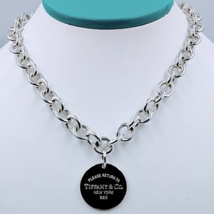 """Tiffany & Co. 925 Sterling Silver Please Return to Tiffany Round Tag Necklace 18"""" Rare for Sale in Winter Springs, FL"""