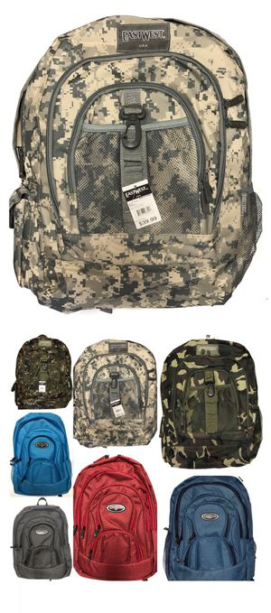 NEW! Camouflage Backpack book bag laptop bag back to school travel bag carry on gym bag camping hiking trekking molle work bag for Sale in Long Beach, CA