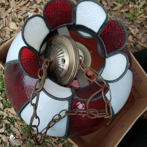 Vintage Tiffany Style Stained Glass Lamp Shade Hanging Fixture for Sale in Toccoa, GA