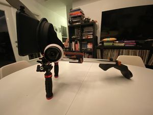 FILMCITY HS 2 professional hi grade follow focus / MOVO MB100 lightweight with Franch flag & universal anti reflection / SUNRISE SHOULDER PD DSLR RI for Sale in Miami, FL