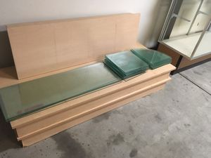 Display base boards with glass shelves for Sale in Corona, CA