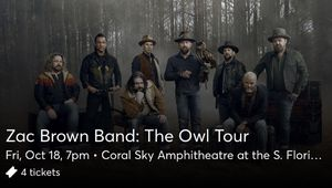 Zac Brown Concert for Sale in Lake Worth, FL