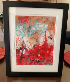One of a kind abstract framed painting for Sale in Melbourne, FL