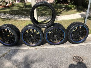 """22"""" rims with tires for Sale in Alafaya, FL"""