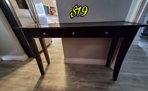 Good Condition Console Table with 3 Small Drawers for storage. function to your living room with the Sofa Table/Media Table. $19 for Sale in Santa Clarita, CA