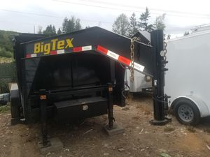 """3axes Hosenneck Dump trailer 7'×16'×4' 2"""" walls years 2020 for Sale in Puyallup, WA"""