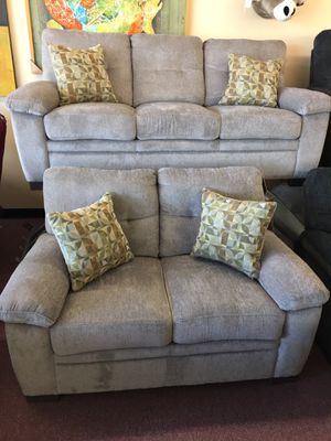 💥HUGE Blowout Furniture Sale!💥 Brand New Gray Sofa Loveseat Set W/ Accent Pillows! $50 Down Takes It Home Today! for Sale in Hampton, VA