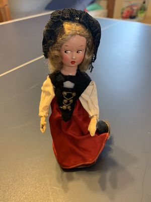 Old wind up doll in original costume walking German mechanical for Sale in Oakbrook Terrace, IL