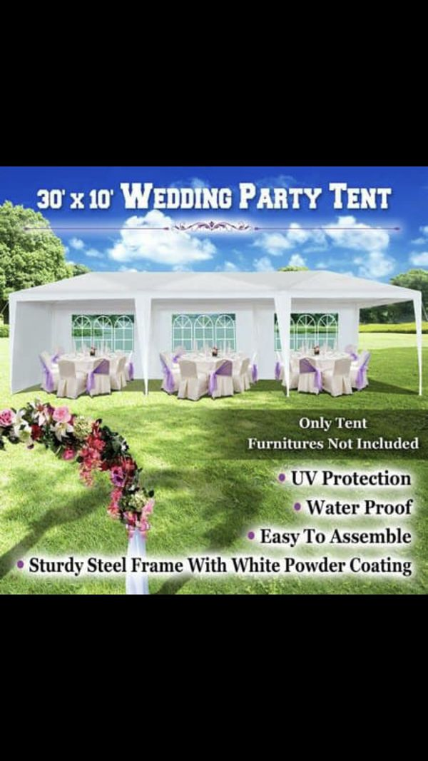 NEW in box 10x30 Tent with 8 removable windows/walls. Party Wedding Outdoor Patio Canopy Gazebo