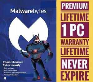 Malwarebytes Premium Lifetime Key 🔑 1 PC Windows for Sale in Creve Coeur, MO