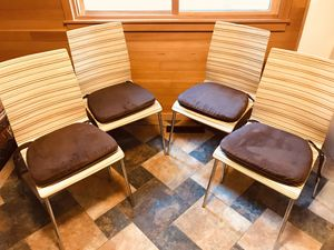 Set of four modern chairs & seat cushions for Sale in Boulder, CO