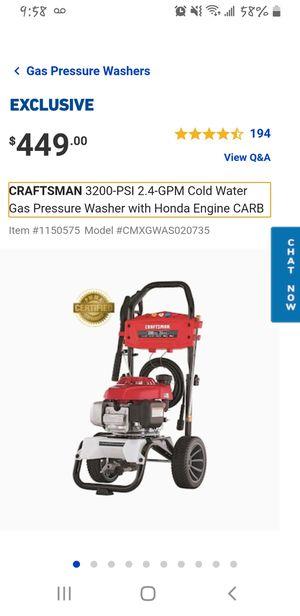 CRAFTSMAN 3200 pressure washer for Sale in Houston, TX
