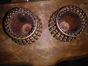 Small metal candle holders for Sale in Pipe Creek, TX