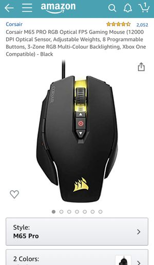 corsair m65 pro gaming mouse for Sale in Los Angeles, CA