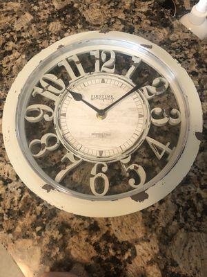 Shabby chic clock for Sale in Cumberland, RI