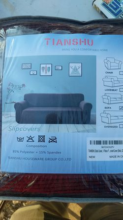 Unopened Tianshu Large (3 cushion) Couch cover - Chocolate for Sale in Warren,  MI