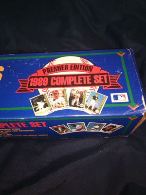 upper Deck premier edition 1989 complete set collector's choice baseball cards 800 cards and all guaranteed rookie Ken Griffey jr. Card brand new for Sale in Portland, OR