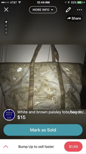 White and gold tote/beach bag for Sale in Abilene, TX