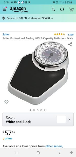 Salter professional scale for Sale in Tacoma, WA