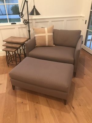 Crate & Barrel Oversized Couch and a Half. Grey. for Sale in Phoenix, AZ