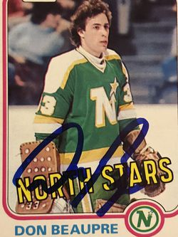 DON BEAUPRE 1981-82 O-PEE-CHEE ROOKIE SIGNED AUTOGRAPHED CARD #159 NORTH STARS for Sale in Edwardsville,  IL