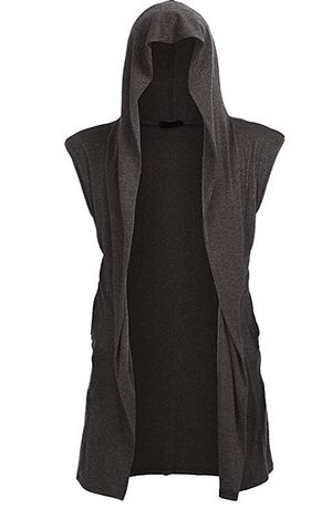 UUANG Casual Long Sleeveless Hooded Cardigan/Vest/Shawl Lightweight with Open Front - XXL for Sale in Malden, MA