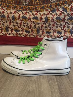 White leather Chuck Taylor All Star Converse shoe for Sale in Denver, CO