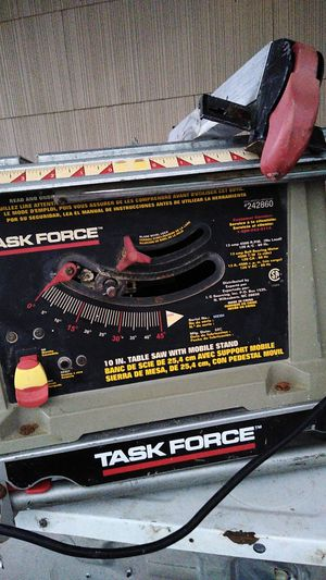 "Taskforce 10"" in. Table saw with mobile stand for Sale in Kansas City, MO"