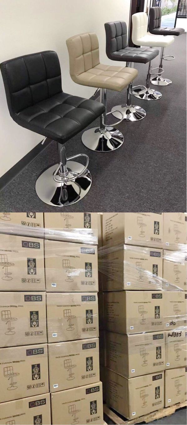 """NEW $40 each 24"""" to 33"""" seat height swivel barstool bar chair black brown grey or white"""