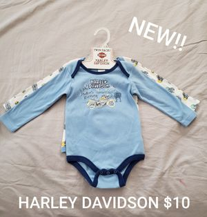 NEW HARLEY DAVIDSON ONESIES SET SIZE 18 MONTHS for Sale in Irwindale, CA
