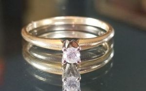 14K yellow gold genuine .20 CT diamond engagement, promise, wedding ring size 6.75 for Sale in Lake Stevens, WA