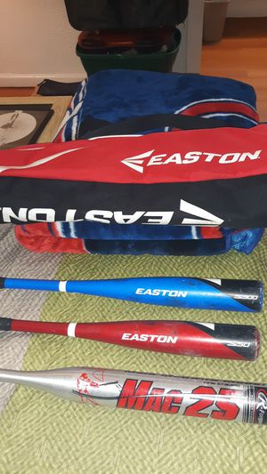 Easton, Rawlings bags, bat and Mark MCQUIRE bat for Sale in Fenton, MO