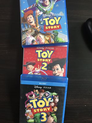 Toy story Blu-ray 1,2 and 3 Blu-ray, all for $30, Disney marvel Harry Potter the Star Wars movies Bluray and dvd collectibles for Sale in Everett, WA