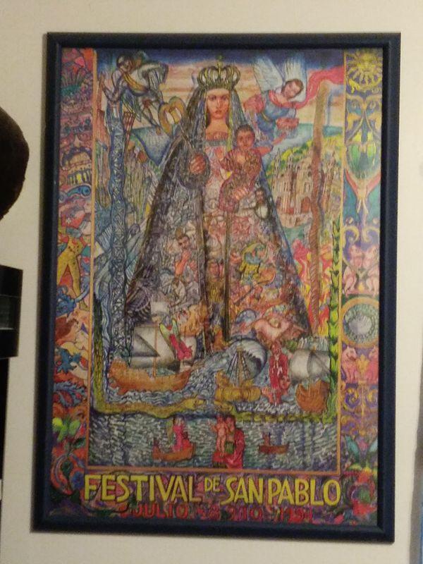 Festival poster framed