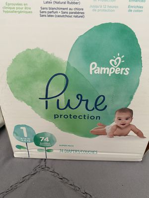 Pampers Pure size newborn not size 1 for Sale in Dania Beach, FL